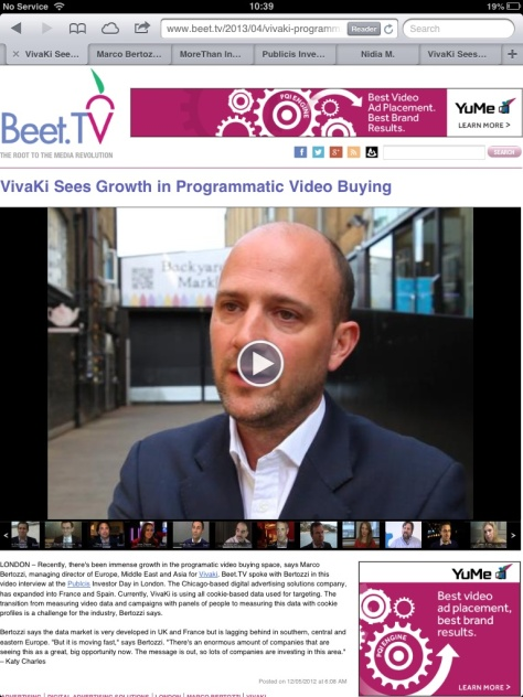 My Interview with Beet.tv on Programmatic Video - AODv